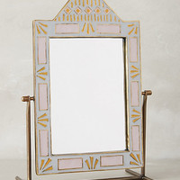 Geo-Tile Vanity Mirror by Anthropologie Lilac One Size Wall Decor