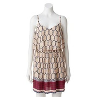 Lily Rose Geometric Dress - Juniors
