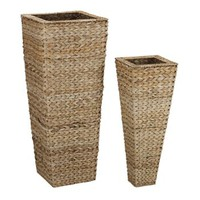 Household Essentials Wicker 2-pc. Vase Set