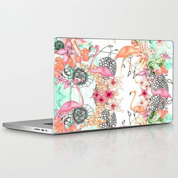 TROPICAL FLAMINGO Laptop & iPad Skin by Monika Strigel | Society6