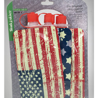 USA Flag Plastic Reusable Flasks 3 Pack
