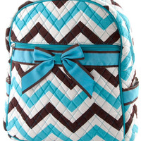 Back to School Chevron Backpack Pre School Backpack Quilt Bag Girl Backpack Teen Girl Backpack - By PiYOYO