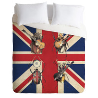 Eric Fan Meet The Beetles Duvet Cover