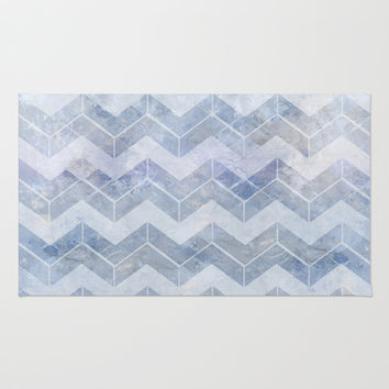 abstract pattern blue Area & Throw Rug by VanessaGF