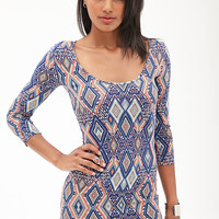 Abstract Geo Bodycon Dress