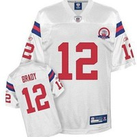 New England Patriots TOM BRADY #12 Youth, Kids NFL Replica Jersey, White