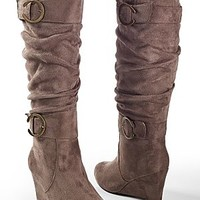 Wedge Buckle Boot