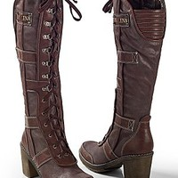 Brown (BR) Lace Up Boot