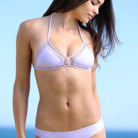 The Girl and The Water - ACACIA Swimwear - Andy Bikini Top / Lavender - $110