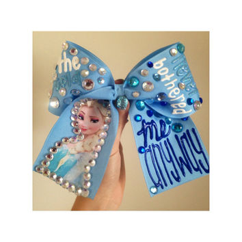 "FROZEN ""The Cold Never Bothered Me Anyway"" Rhinestoned Bow"