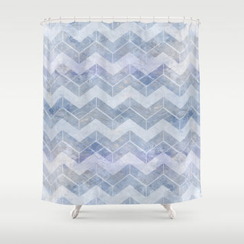 abstract pattern blue Shower Curtain by VanessaGF