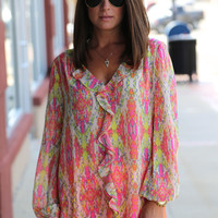 Around the Block {Ruffle Blouse}