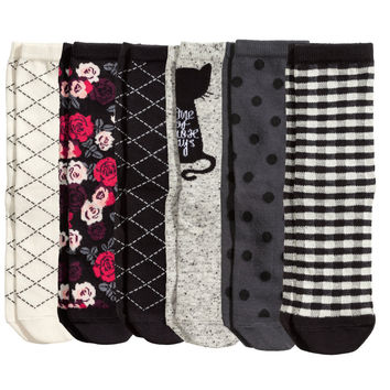 H&M - 7-pack Socks - Black - Kids