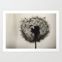 Dandelion Birds [V2] Art Print by LilaVert