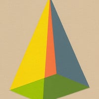 "Giclee print - ""Pyramid"" - 13"" x 16"" modern geometric abstract art"