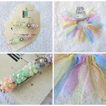 Sugary Sweet Pastel 90s Hair Clips (NEW & UNUSED) -- Kawaii Cult Party Kei Fairy Kei Pastel Sweet Lolita Goodies!