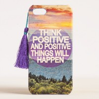 Think Positive #livehappy iPhone 5 Cover