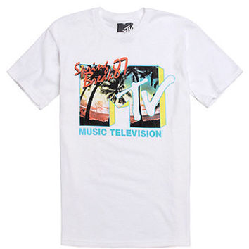 FIFTH SUN MTV Spring Break T-Shirt  Mens Tee  White -