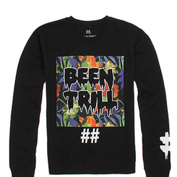 Been Trill Whither Multi Crew Fleece  Mens Hoodie  Black -
