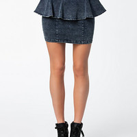 Acid Peplum Skirt