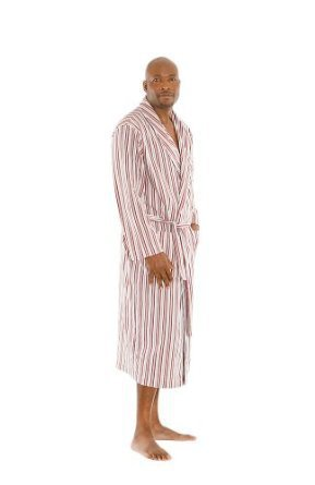 Men`s Classic Cotton Robe Bathrobe, Sizes Small to 3XL