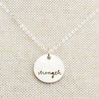 Strength Necklace, Charm Necklaces