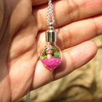 Mini Terrarium Necklace for Charity Susan G Komen by Hieropice