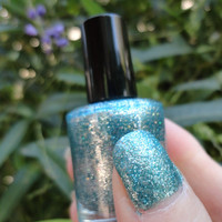 Holo Green CustomBlended Nail Polish by parissparkles on Etsy