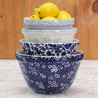 Cobalt Mixing Bowls | Burleigh | Stonewall Kitchen - Specialty ...