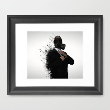 Dissolution of man Framed Art Print by Nicklas Gustafsson