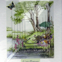 Gone Fishing - Hand-Crafted 3D Layered Card - Blank for any Occasion (1724)