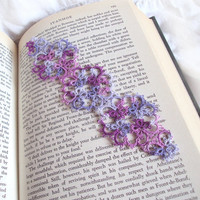 Lilacs Butterfly Bookmark in Tatting - Janessa