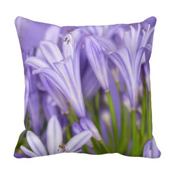 Beautiful Purple Agapanthus Cushion