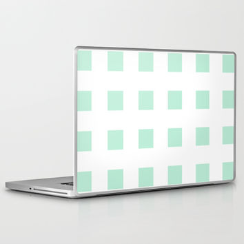 Cross Squares Mint Green Laptop & iPad Skin by BeautifulHomes | Society6