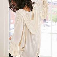 Ecote Nellie Hooded Bell-Sleeve Top - Urban Outfitters