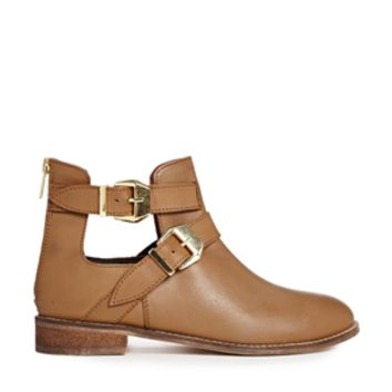 ASOS ALONG SIDE ME Leather Ankle Boots at asos.com