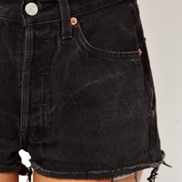 ASOS Reclaimed Vintage Levi 501 Shorts in Black at asos.com