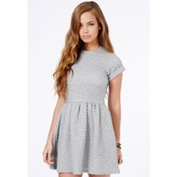 Missguided - Robyn Quilted Skater Dress