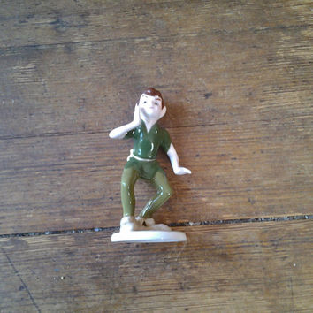 1980's 5 inch Peter Pan, bone china figurine.  Disney.