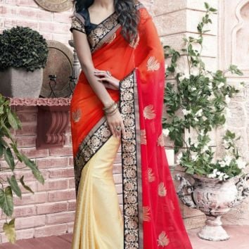 Buy Stunning Printed Party Wear Sarees, Printed Georgette Sarees Online at Shibori Fashion