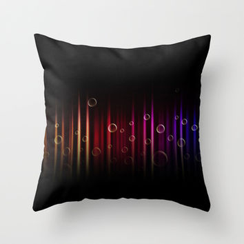 Bubbles and colors  Throw Pillow by VanessaGF