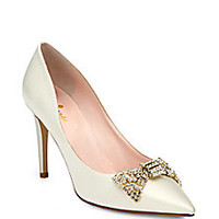 Kate Spade New York - Pezz Satin Pumps - Saks Fifth Avenue Mobile