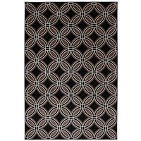 Woven Indoor/Outdoor Iron Ore Rug - Black