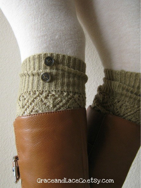 button leg warmer