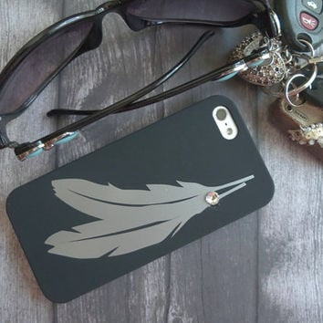 Feather iPhone 5 Case, hard phone case, accessories, cell phone cases, feather, iPhone 5, teen gift, birthday gifts