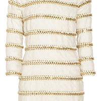 Balmain Chain-embellished lace mini dress – 60% at THE OUTNET.COM