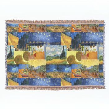 Van Gogh Dream Paintings Art Throw Blanket
