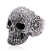 Skull Rings for Men - Punk Style Sterling Silver Skull Rings for Men
