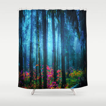 Magicwood #Night Shower Curtain by Armine Nersisian