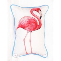 Pink Flamingo Small Outdoor/Indoor Pillow